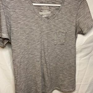 Stripped V neck shirt